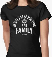Always Keep Fighting Womens Fitted T-Shirt