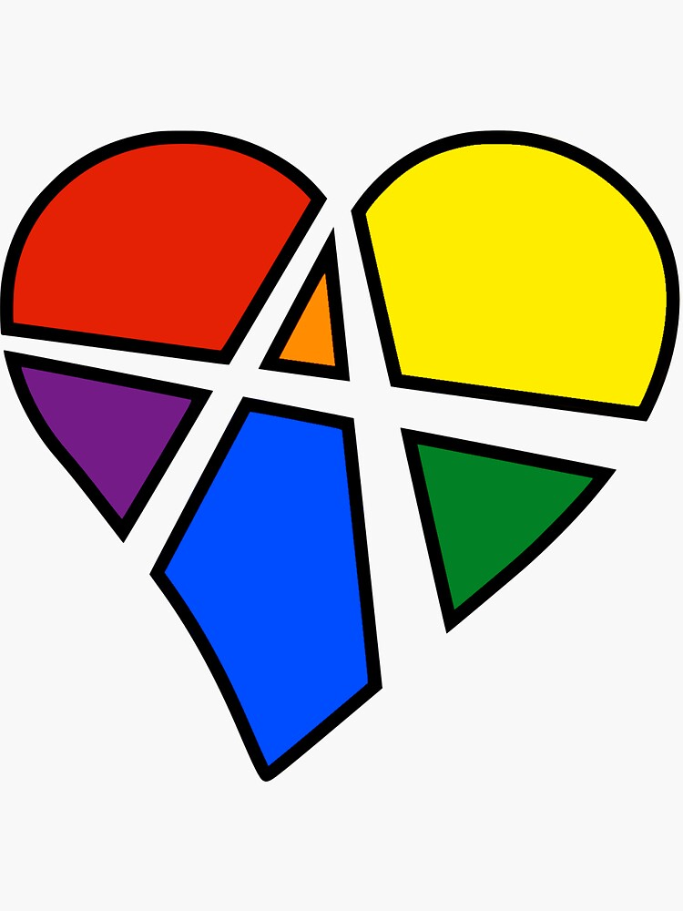 Rainbow Relationship Anarchy Heart (Black) by polyphiliashop