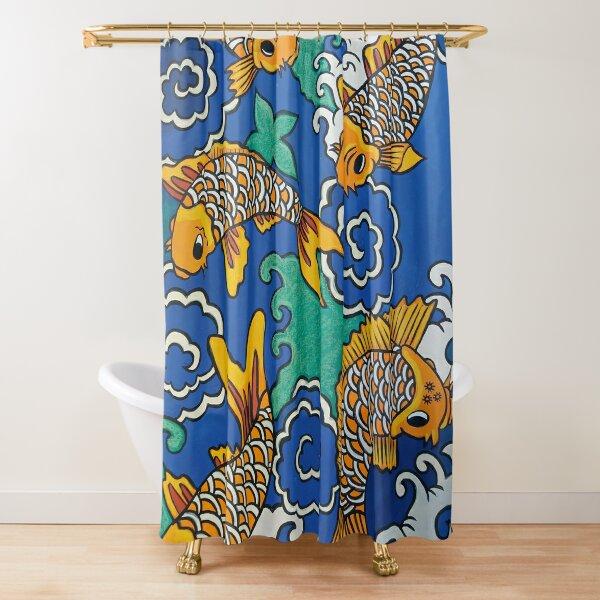Five carp Shower Curtain