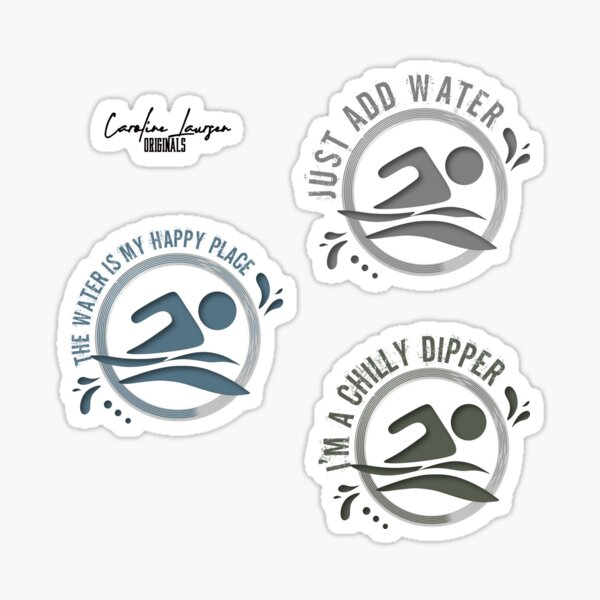 ORIGINALS - Sticker pack for wild open water swimming, winter bathers and surfers. #48 Sticker