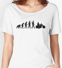 Evolution of Man Motorcycle Women's Relaxed Fit T-Shirt