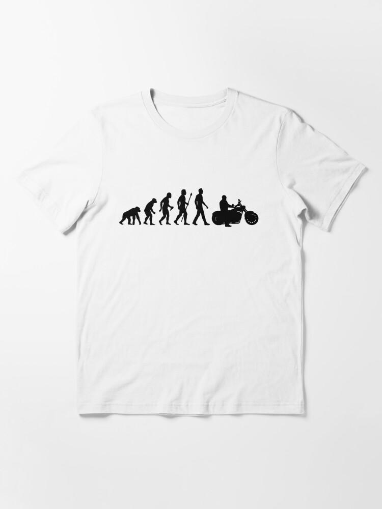 Alternative Ansicht von Entwicklung des Mannes Motorrad Essential T-Shirt
