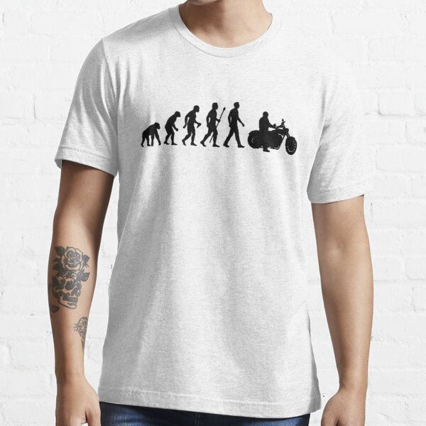 Evolution of Man Motorcycle Essential T-Shirt