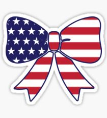 American Flag Bow Sticker