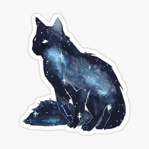 Blue Cat Sticker