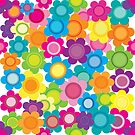 Jeweltone Seamless Flower Pattern by mstiv