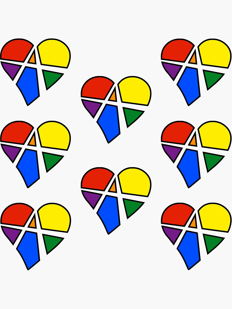 8x Rainbow Relationship Anarchy Heart by polyphiliashop