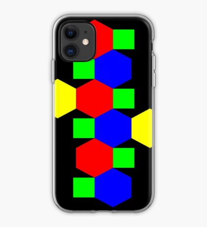 Net of a Truncated Octahedron iPhone Case