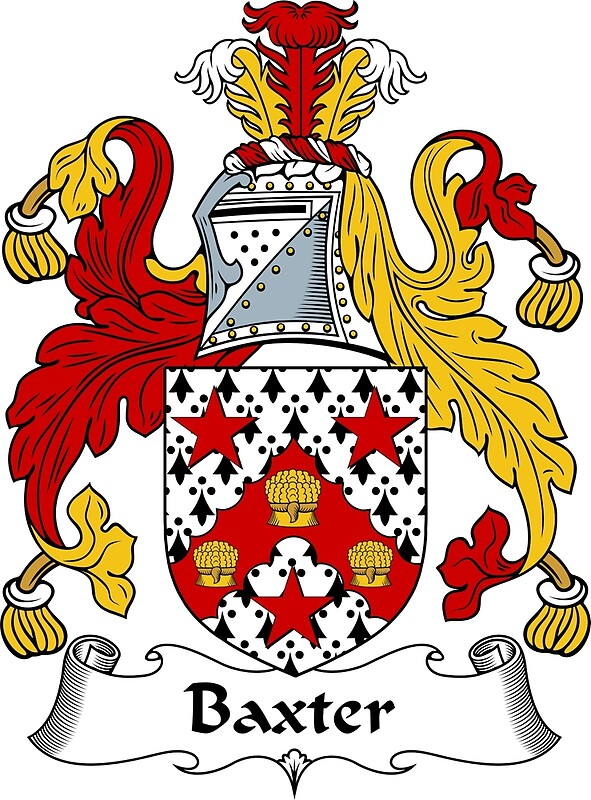 Quot Baxter Coat Of Arms Baxter Family Crest Quot By