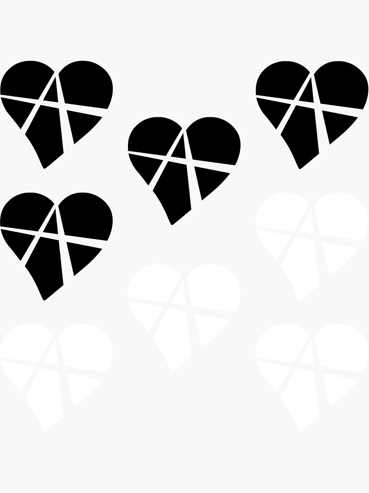 8x Black and White Relationship Anarchy Heart by polyphiliashop