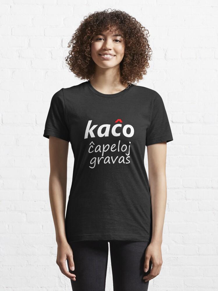 Alternate view of Kaĉo, Ĉapeloj Gravas - Blanka Essential T-Shirt