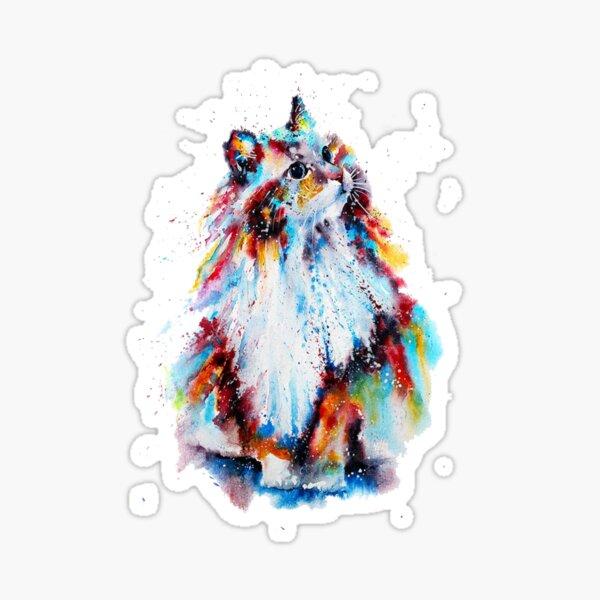 Watercolor Cat Sticker