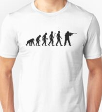 Funny Sniper Evolution Of Man Shirt Unisex T-Shirt