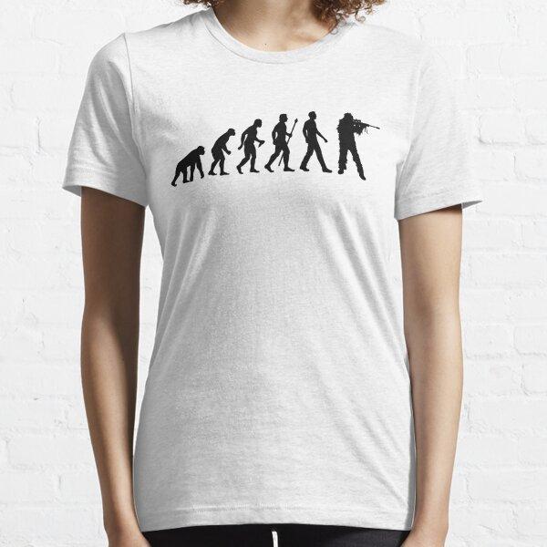 Funny Sniper Evolution Of Man Shirt Essential T-Shirt