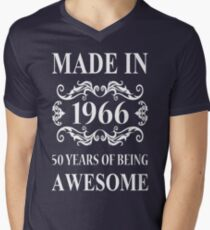 MADE IN 1966 50 YEARS OF BEING AWESOME  Men's V-Neck T-Shirt