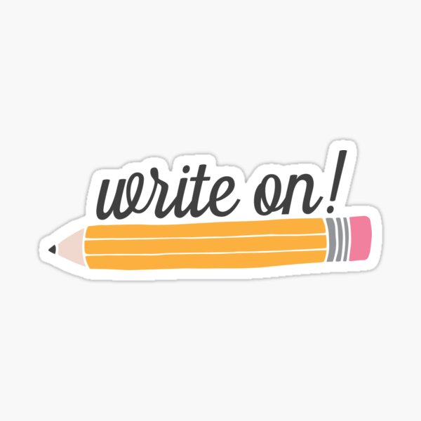 Write On! Sticker