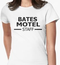 Bates Motel Staff Women's Fitted T-Shirt