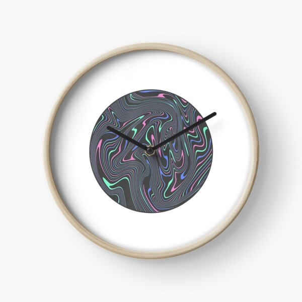 Awesome Abstract Trippy Melting Liquid Swirl Psychedelic Clock