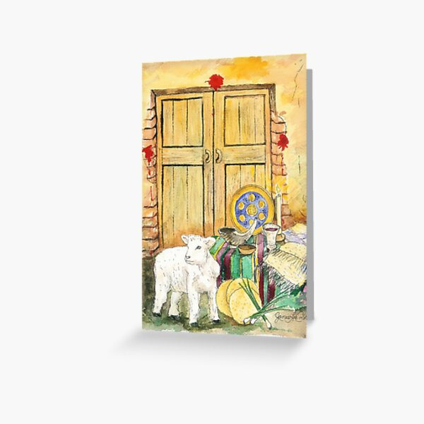 Elements of Passover Greeting Card