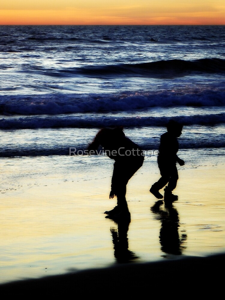 Collecting Shells by RosevineCottage