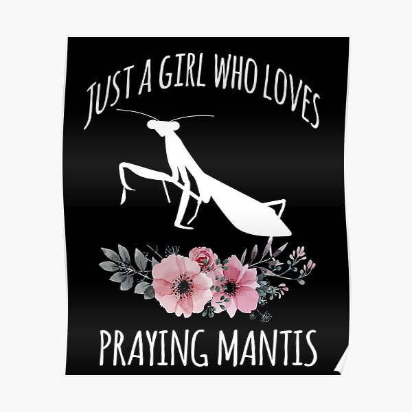 Just a Girl who loves Praying Mantis, Insect Lover, Praying Mantis Keeping Gift, Entomology Lover, Idolomantis diabolica Poster
