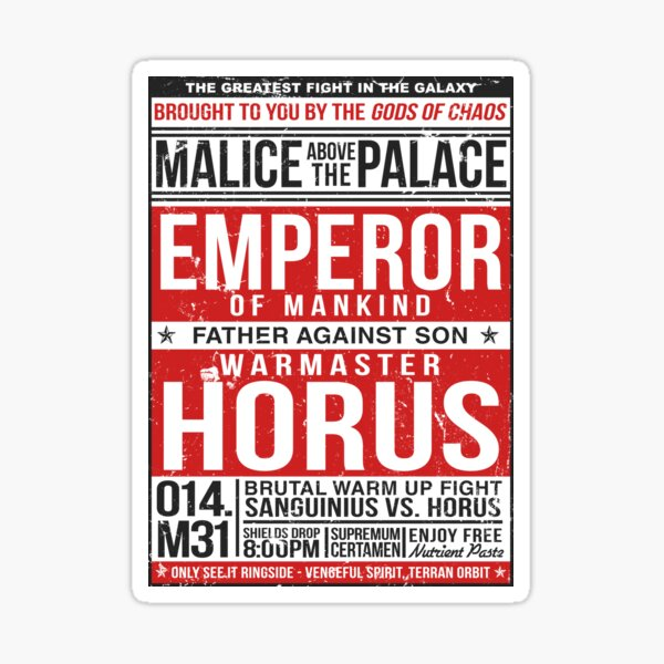 Malice Above The Palace Sticker