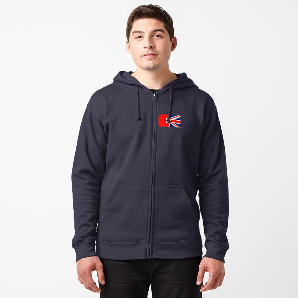 Great British YouTuber logo Zipped Hoodie