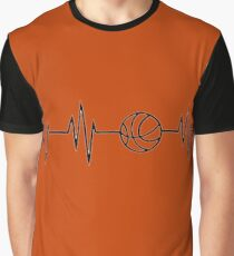 basketball heart beat Graphic T-Shirt