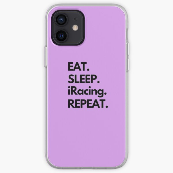 Eat Sleep iRacing Repeat iPhone Soft Case