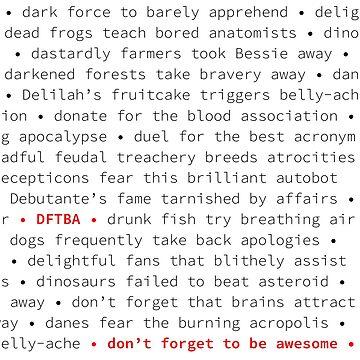 DFTBA Pattern by nerdfelt