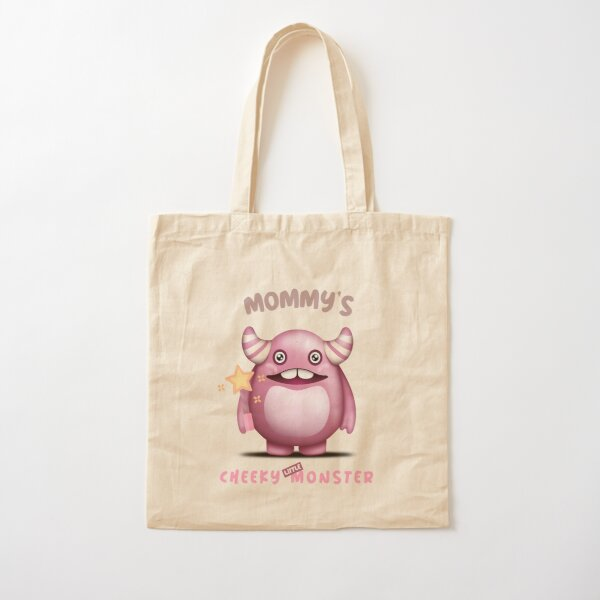 Mommy's Cheeky Little Monster - Moo Moo Cotton Tote Bag