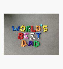 World's best dad Photographic Print
