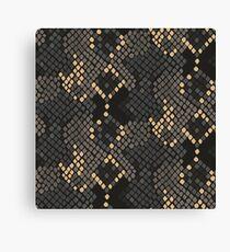 Snake skin artificial seamless texture. Canvas Print