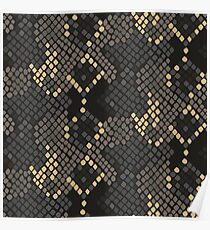 Snake skin artificial seamless texture. Poster
