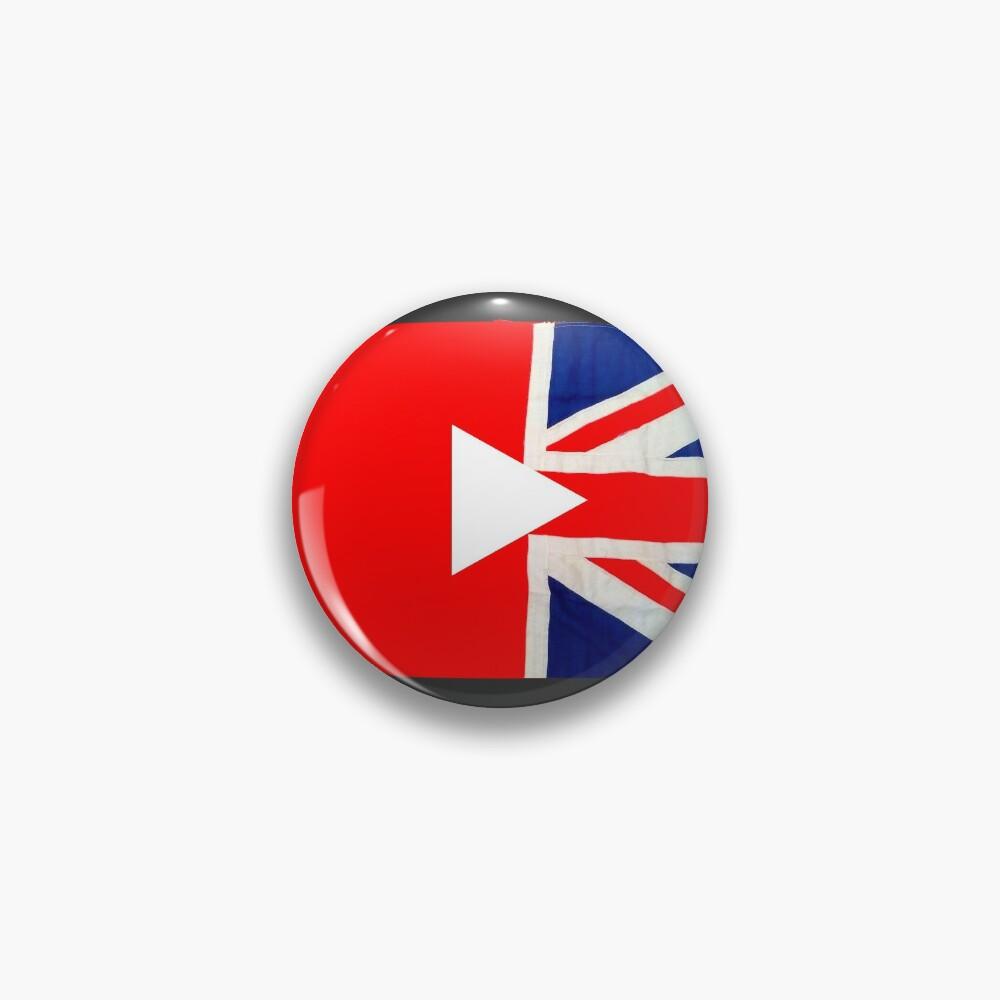 Great British YouTuber logo Pin