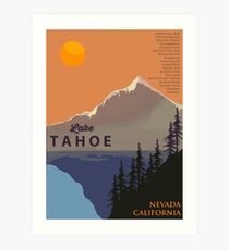 Lake Tahoe. Art Print