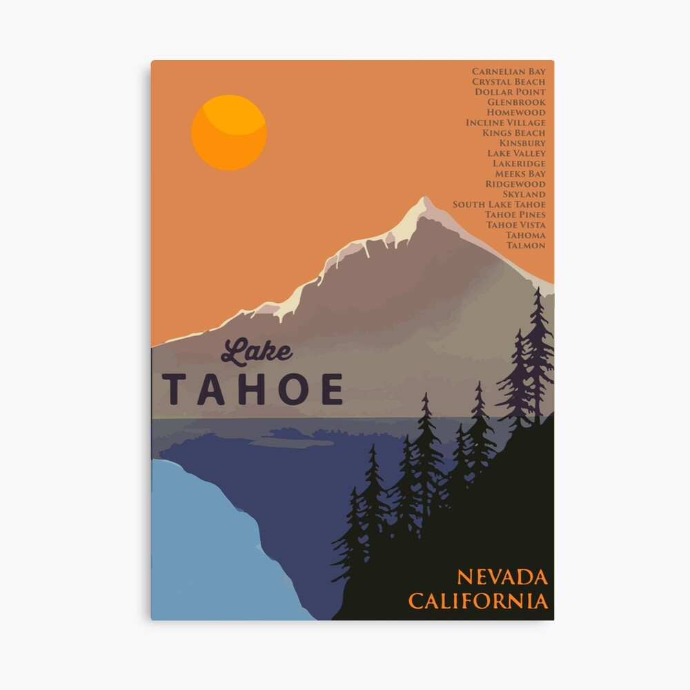 Lake Tahoe. Canvas Print