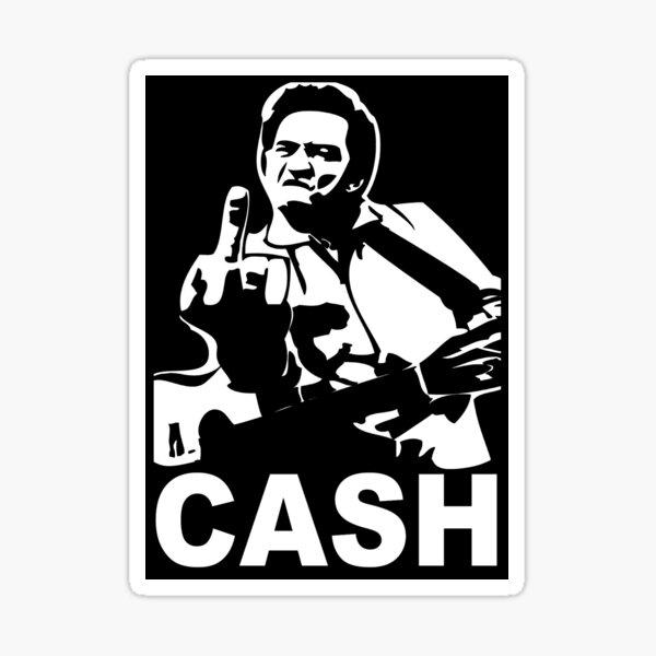 Cash. Sticker