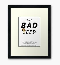 Retro Movie The Bad Seed Framed Print
