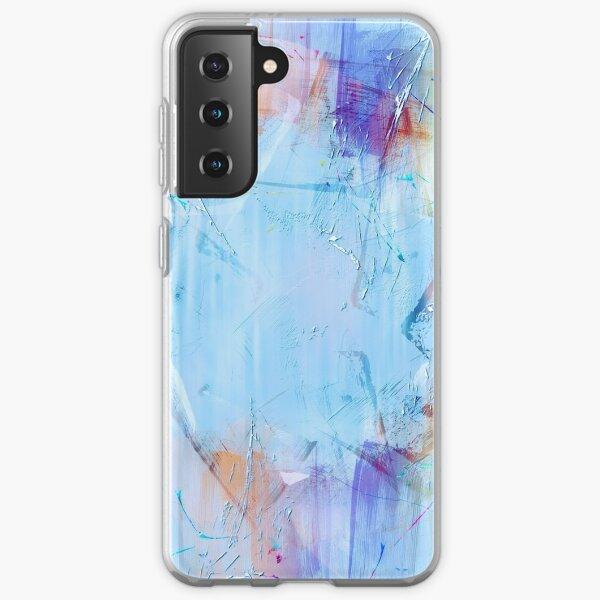 Pastel painting modern art print abstract geometrical  Samsung Galaxy Soft Case