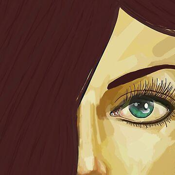 Red hair green eyes by mlswig