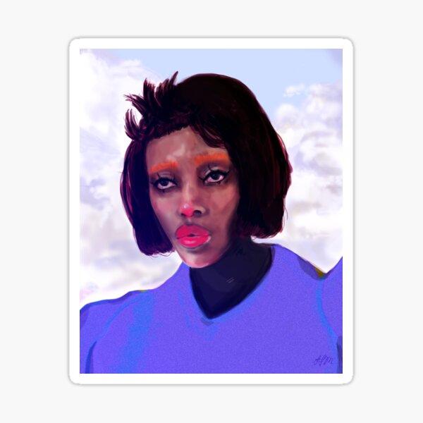 In the Clouds   Dreamy, Surreal Portrait Art, Woman Sticker
