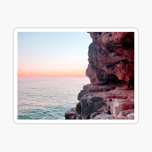 Pink Sunset  Sticker