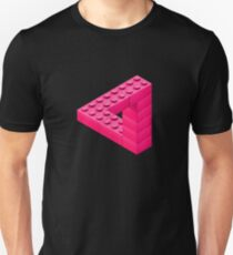 Escher Toy Bricks - Pink T-Shirt