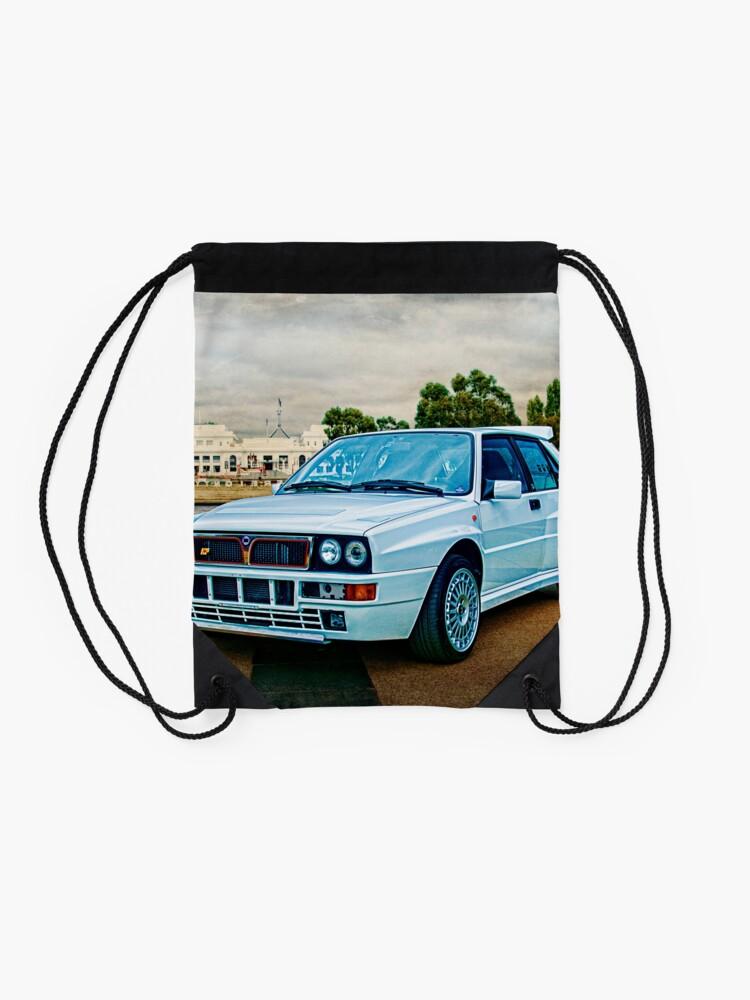 Alternate view of Lancia Delta HF Integrale Evoluzione Drawstring Bag