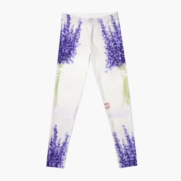 Lavender Bouquet Leggings