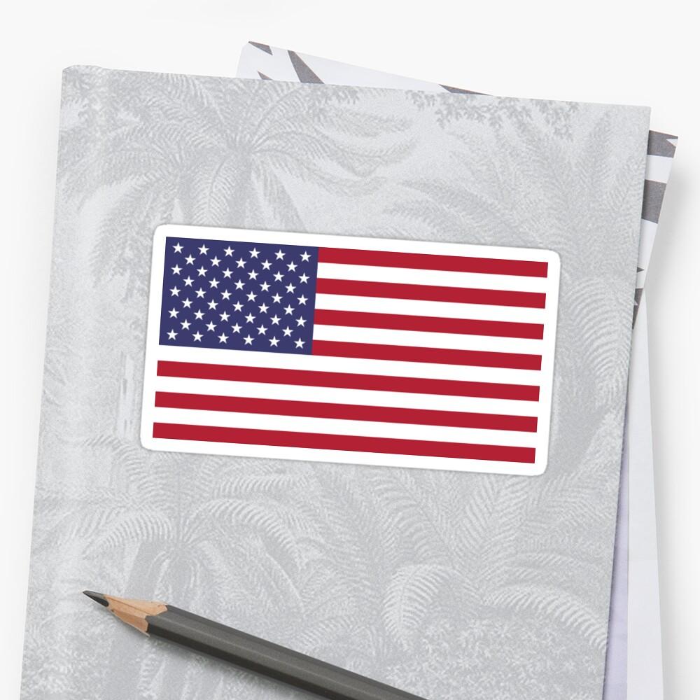 Bandera estadounidense Pegatina