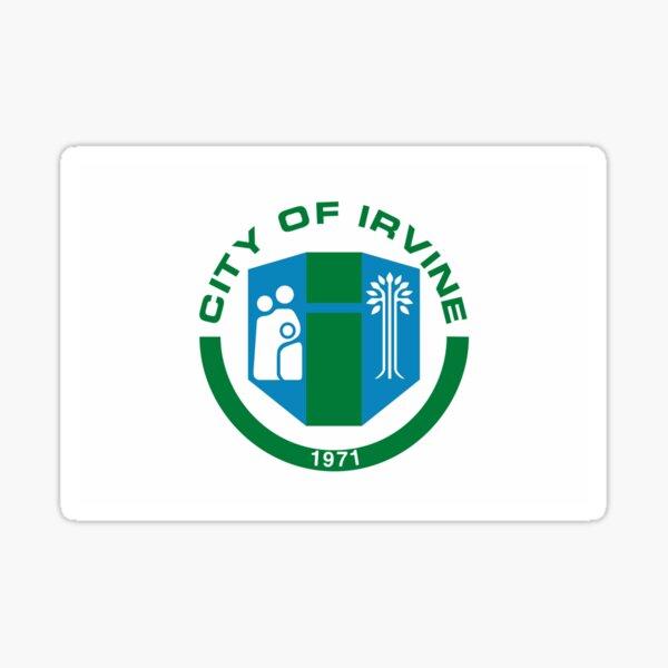 IRVINE City Flag Sticker