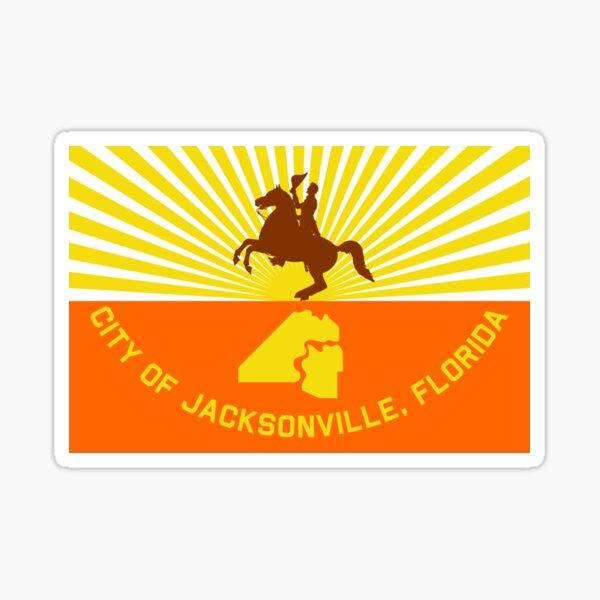 JACKSONVILLE City Flag Sticker