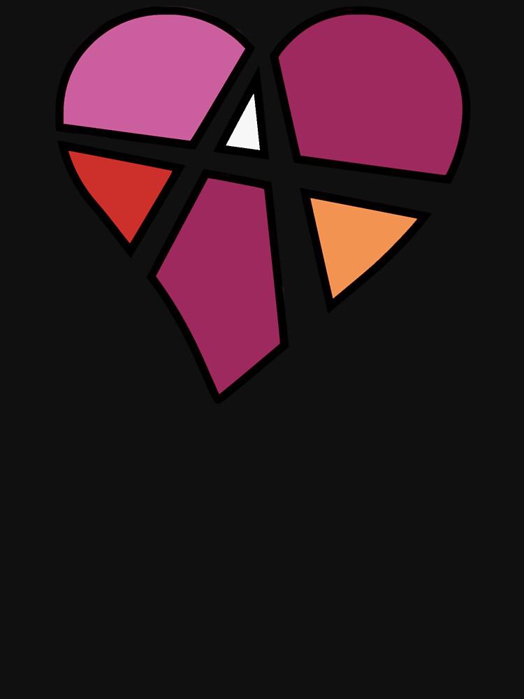 Lesbian Relationship Anarchy Heart (Black) by polyphiliashop